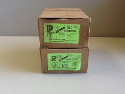"10 X 3-1/2"" Flat Head Phillips Wood Screws [200 IN LOT] NOS"