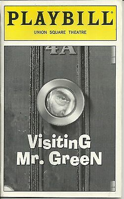Playbill Visiting Mr. Green Eli Wallach Union Square Theatre May 1998
