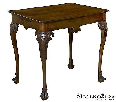 SWC-George II Mahogany Silver Table w/Tray & Carved Eagle Heads, Ireland, c.1750