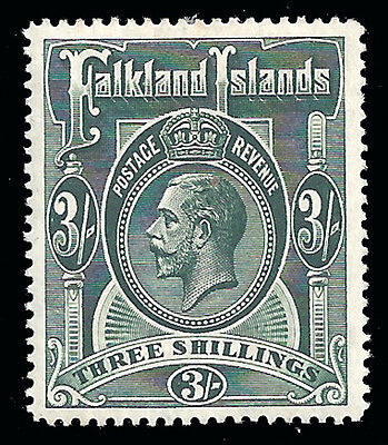 Falkland Islands Stamp 1912 3sh KGV (SG66) Mint £95/$125