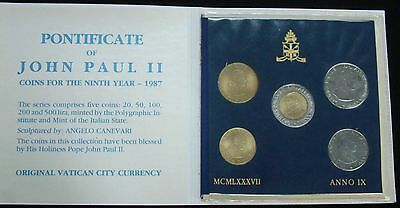 1987 Vatican City Pontificate Of John Paul Ii Coins For The Ninth Year - Anno Ix