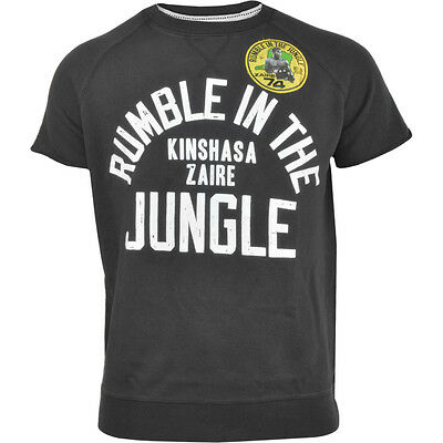 Roots of Fight Rumble in the Jungle Cut-Off Sweatshirt - Black