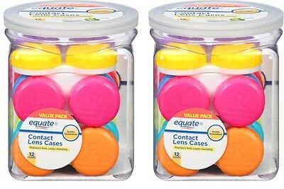 2pk Equate Contact Lens Cases Value Pack 12 Count