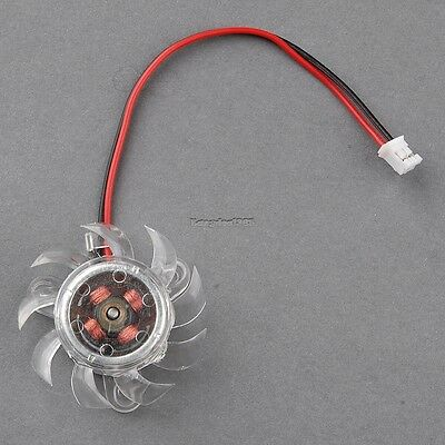 36mm 2 Pin Equilateral Triangle Computer PC VGA Video Card Cooler Cooling Fan ED