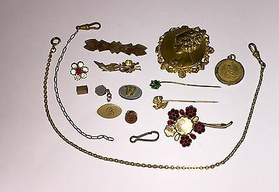 Victorian And Antique Jewelry Parts And Repair Lot #2