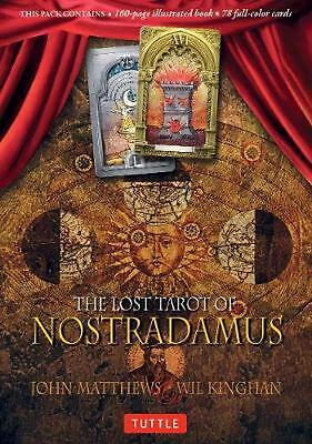 Lost Tarot of Nostradamus by John Matthews (English) Hardcover Book Free Shippin