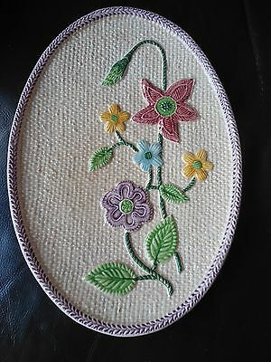 Scarce Sylvac Ceramics Floral & Basketweave Oval Plate Collectors Gift (R3)