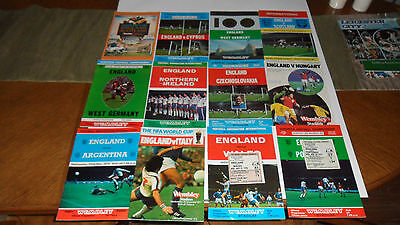 12 England Programmes 3 With Tickets