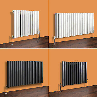 Horizontal Designer Radiator Oval Column Panel Rad Modern Central Heating UK New