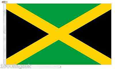 Jamaica Roped & Toggled 5' x 3' Boat Flag