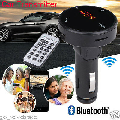 Wireless Car Kit MP3 Player Radio Bluetooth FM Transmitter SD Card USB Charger