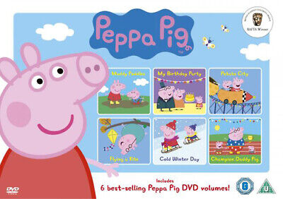 Peppa Pig: Selection Box DVD (2013) cert U 6 discs ***NEW*** Fast and FREE P & P