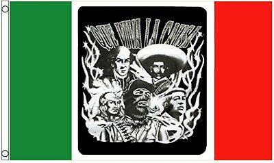 'Que Viva La Causa' Live The Cause Mexican Revolution 5'x3' Flag