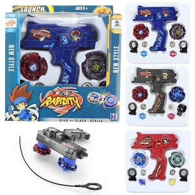 Top Rapidity Metal 4D Launcher Grip Rare Beyblade Set Fusion Fight Master