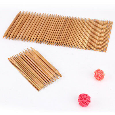 "Carbonized Bamboo Double Pointed Knitting Needles Sock DPN 15cm/6"" Long of 75pcs"