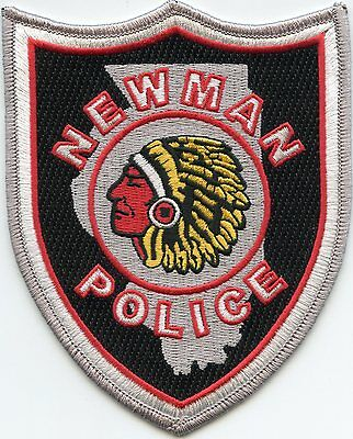 NEWMAN ILLINOIS IL State Outline Indian POLICE PATCH