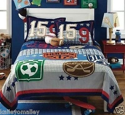 Circo Full / Queen Quilt - Game On Collection - Sports Theme - New