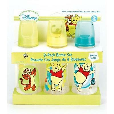 Winnie The Pooh Three Pack Deluxe Baby Bottle Set New