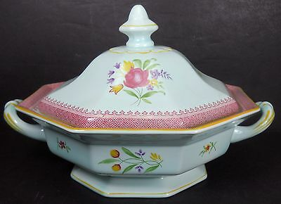 ADAMS England LOWESTOFT pattern Covered Vegetable Serving Bowl with Lid crazing