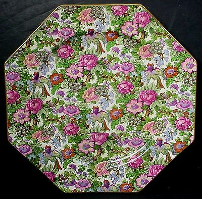 """CROWN DUCAL china IVORY CHINTZ pattern LUNCHEON PLATE 8-3/4"""""""