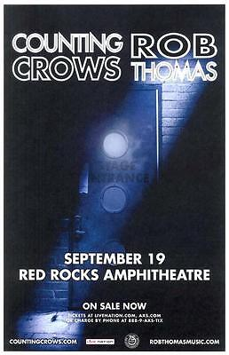 Counting Crows Rob Thomas Red Rocks 2016 Colorado Concert Poster