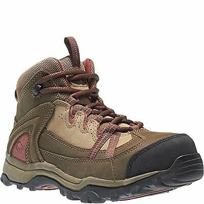 Wolverine Women's Maggie Steel-Toe Lace Up Ankle Work Boots, Brown/Red