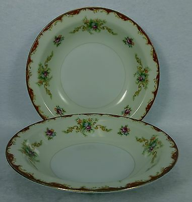 HARMONY HOUSE Sears china WEMBLEY pattern Soup Salad Bowl Set of Two (2) 7-7/8""
