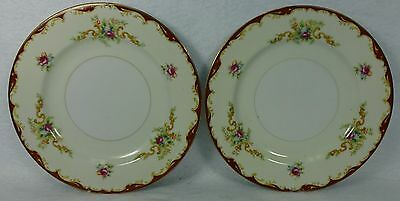 HARMONY HOUSE Sears china WEMBLEY pattern Bread Plate - Set of Two (2) - 6-3/8""