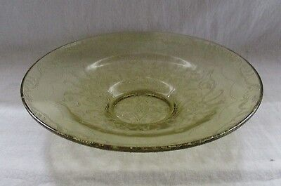 """Depression Glass Amber """"madrid"""" 11"""" Low Console Bowl"""