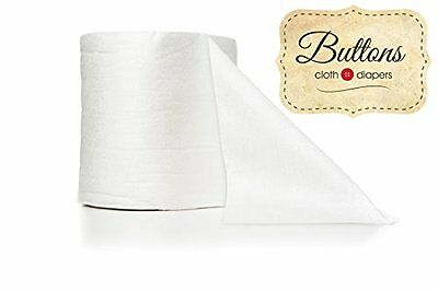 Buttons Disposable Bamboo Diaper Liners (100 Count) New
