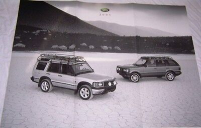 2001 Land Rover Range Rover & Discovery brochure poster