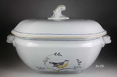Spode Queen's Bird Fine Stone Soup Tureen With Lid - Mint!