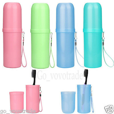 Home Outdoor Travel Toothbrush Holder Toothpaste Portable Cover Storage Cup Box