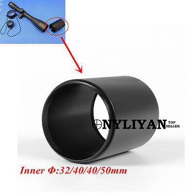 1X Sunshade 32mm/40mm/50mm Reduces Glare Sun Reflectio Cover for Rifle Scope