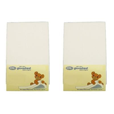 DK Glovesheets Chicco Next 2 Me / Lullago Fitted Sheet (White) x 2