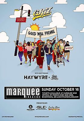 "Griz / Haywyre /louis Futon ""good Will Prevail Tour"" 2016 Phoenix Concert Poster"