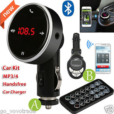 Wireless Bluetooth LCD MP3 Player Car Kit Charger USB FM Transmitter Modulator