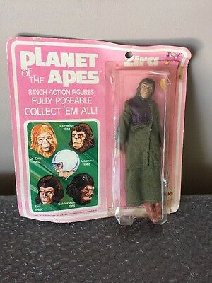Vintage 1967 Mego Planet of the Apes ZIRA On Card Sealed Never Removed