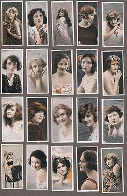 1924 ITC C9 Famous English Actresses Tobacco Cards Complete Set of 50