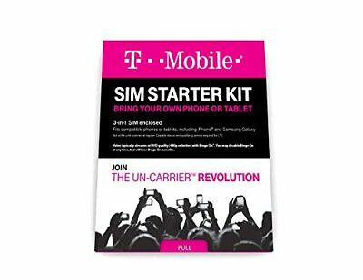 T-Mobile Prepaid Complete SIM Starter Kit - No Contract Network Connection New