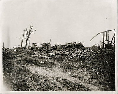 WW1 ORIGINAL PHOTO - NOTHING LEFT STANDING WESTERN bFRONT