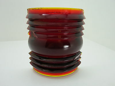 5+9/16 Inch Tall Nml Co Red Glass Lens Boat Ship Lamp Light (#1840)