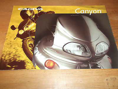 Motorcycle Brochure. Cagiva. Canyon. c1998. Free UK P&P.