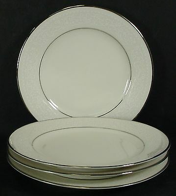"NORITAKE china SORRENTO white flower 7565 pattern BREAD PLATE 6-1/2"" Set of FOUR"