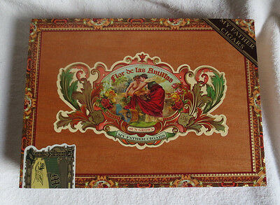 My Father Cigars Flor De Las Antillas 20 Belicosos Wood Cigar Box -Nice Graphics
