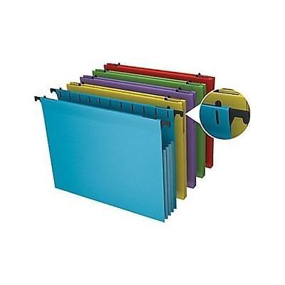 Staples Poly Expanding Hanging File Pockets, Letter, Assorted, 5/Pack New