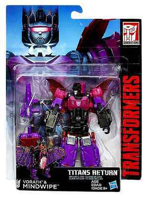 Transformers Titans Return Deluxe Class Decepticon Vorath & Mindwipe