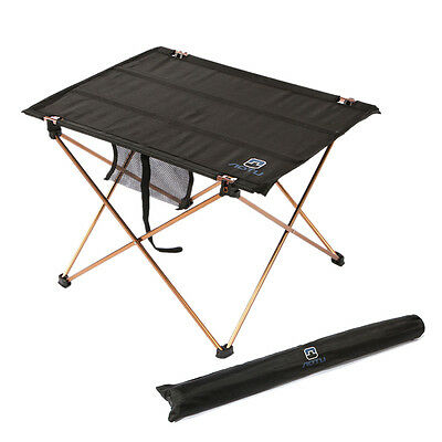 Aluminum Roll Up Table Folding Camping Outdoor Garden Indoor Picnic with Bag