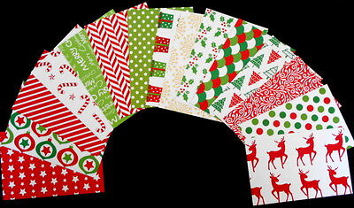 """*CHRISTMAS 2016* Colourful Christmas Scrapbooking Papers *15cm x 10cm (6 """"X 4"""")"""