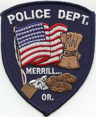 Merrill Oregon Or Police Patch